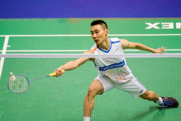 Malaysian badminton player Lee Chong Wei playing
