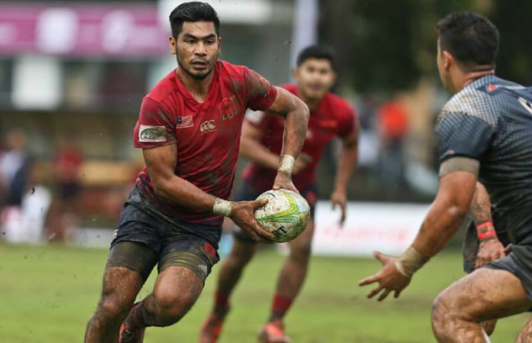 Malaysians playing Rugby
